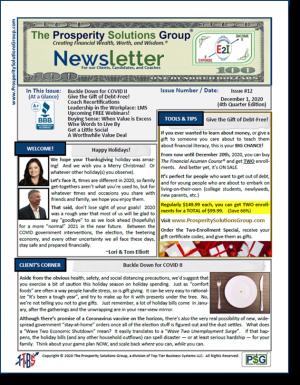 December 1, 2020 Newsletter